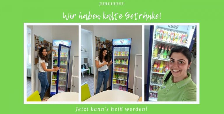 Kühlschrank mit Erfrischungen