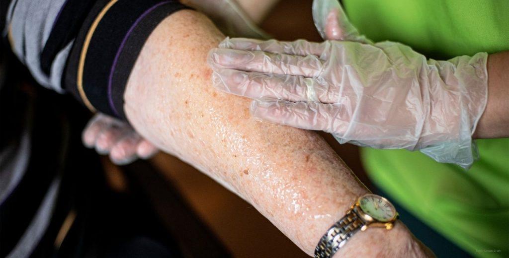 Ambulante Pflege eincremen